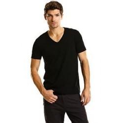 "2(X)IST Černé tričko s výstřihem do ""V"""