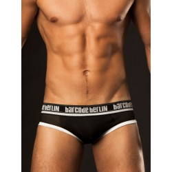 BARCODE BERLIN Černé síťované backless slipy Backless Mesh Brief Sergio