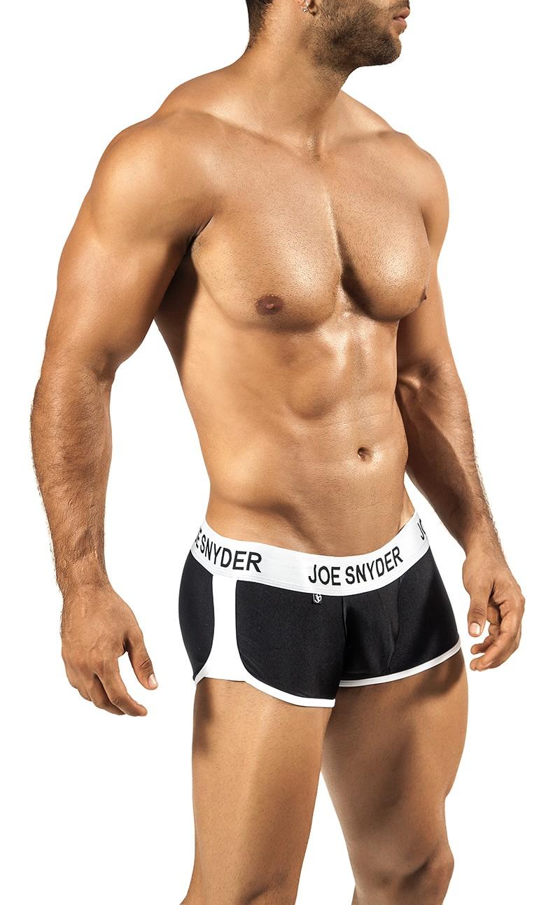 JOE SNYDER černé boxerky s gumou v pase JS AW05