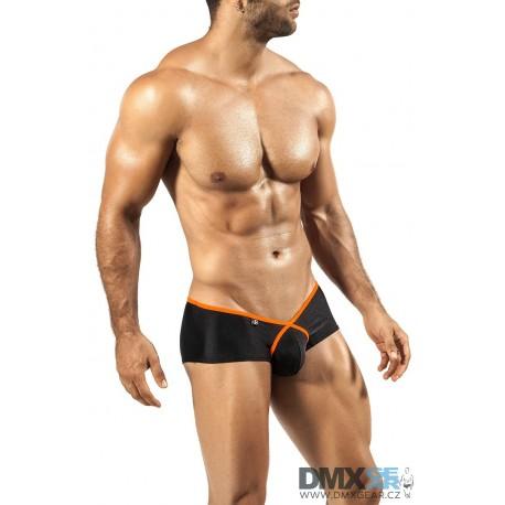 JOE SNYDER černé boxerky s oranžovým lemováním Pride Frame PF04