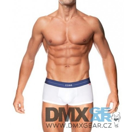 ALEXANDER COBB bílé boxerky s krátkou nohavičkou Trunk Velikost L