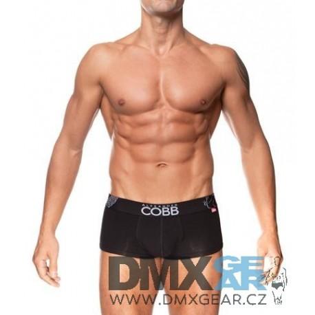 ALEXANDER COBB černé boxerky s krátkou nohavičkou Trunk Velikost XL