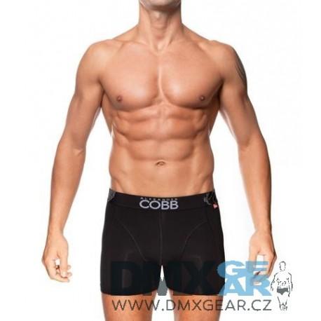 ALEXANDER COBB černé boxerky s delší nohavičkou Boxer Long Velikost M