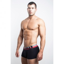 FIT-IN1 černé boxerky s červenou gumou v pase BN1211