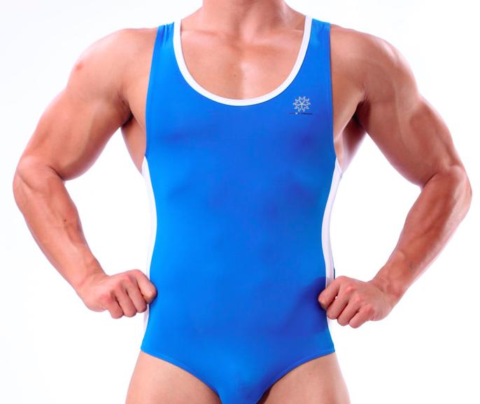 BRAVE PERSON sportovní modré pánské body Muscle