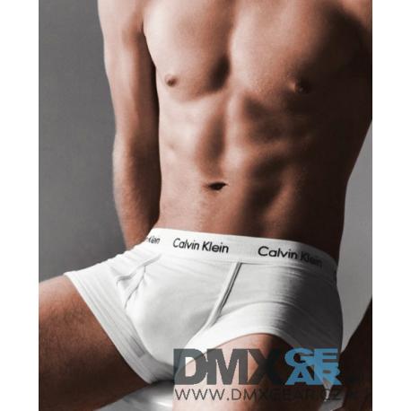 CALVIN KLEIN bílé pánské boxerky Modern Essentials Trunk U6411A Velikost M