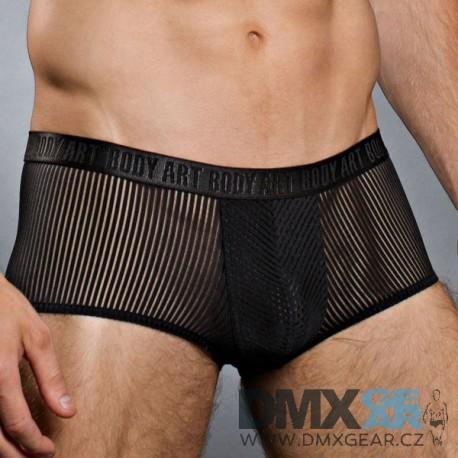 BODY ART černé pruhované boxerky Rhea