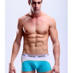 MANVIEW bílo-modré pánské boxerky