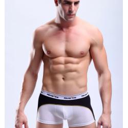 MANVIEW bílo-černé pánské luxusní boxerky