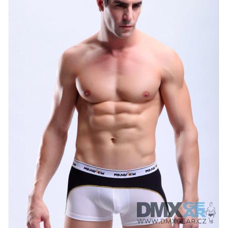 MANVIEW bílo-černé boxerky