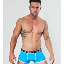 PINK HERO světle modré boxerky Colour