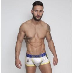 PINK HERO bílé boxerky se žlutým lemováním Rugby