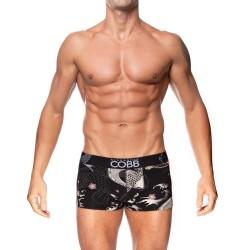 ALEXANDER COBB černé boxerky Koi Tattoo Boxer Short