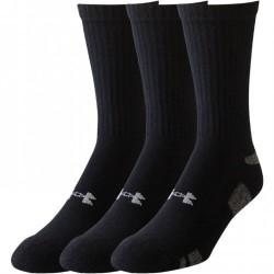 Under Armour Pánské vysoké funkční ponožky Under Armour černé - 3 páry 1250412-001 XL (48-52)