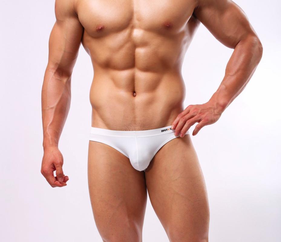 BRAVE PERSON sportovní bílé slipy White