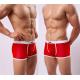 MANVIEW červené průhledné boxerky s bílou gumou