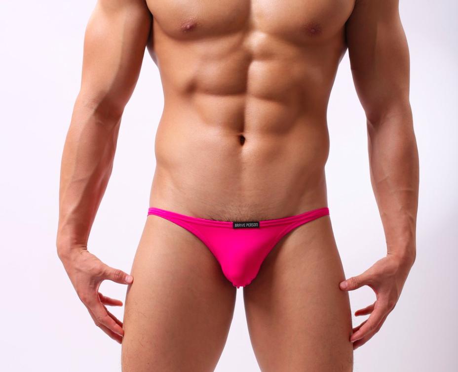 BRAVE PERSON růžové bokové slipy Slim