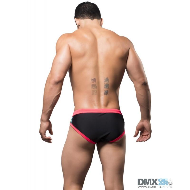 ... ANDREW CHRISTIAN pánské černo-růžové slipové plavky La Jolla ... 4bc00e835e