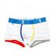 PINK HERO bílé boxerky s barevným lemováním