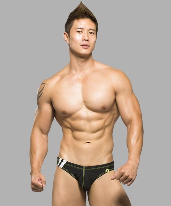 d55cba2f4 ANDREW CHRISTIAN pánské slipové plavky černé Team Bikini