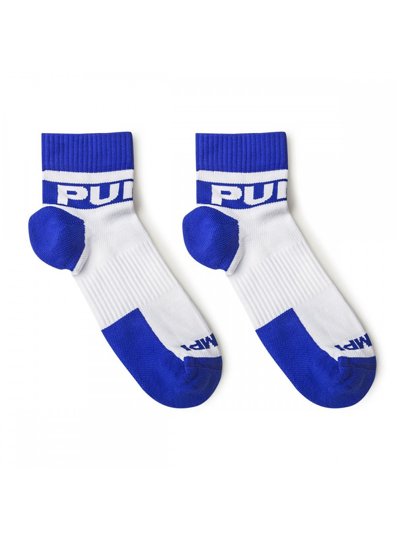 PUMP! pánské sportovní bílo-modré ponožky krátké All-Sport Ice Socks 41002