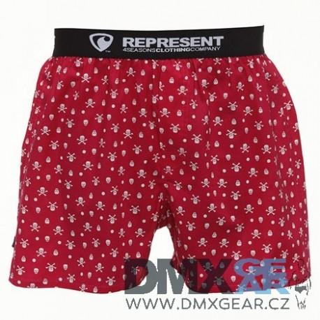REPRESENT pánské bavlněné červené trenýrky Exclusive Mike 16703