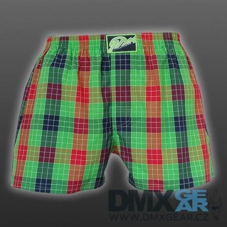 STYX UNDERWEAR pánské volné zelené kostkované trenýrky Classic A515