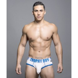 ANDREW CHRISTIAN bílé slipy Trophy Boy Brief 90018
