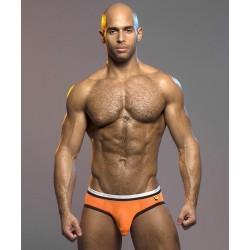 ANDREW CHRISTIAN slipy oranžové síťované  Almost Naked Brief
