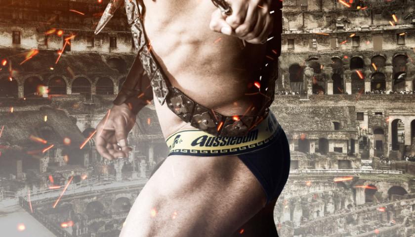 AUSSIEBUM černé pánské slipy Gladiator Brief