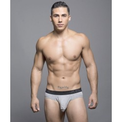 ANDREW CHRISTIAN šedé slipy Almost Naked Tagless Premium Brief 90013