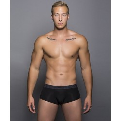 ANDREW CHRISTIAN černé boxerky Almost Naked Tagless Premium Shorty Boxer 90014