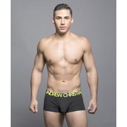 ANDREW CHRISTIAN boxerky pánské černé Happy Tagless Boxer 90035