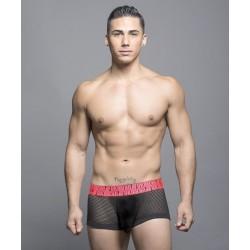 ANDREW CHRISTIAN boxerky pánské černé síťované FUKR Net Boxer 90037