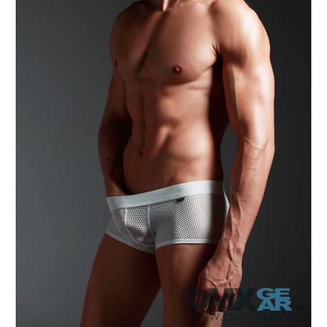 XUBA pánské bílé děrované boxerky Hole