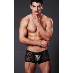 XUBA černé krajkové boxerky Lace
