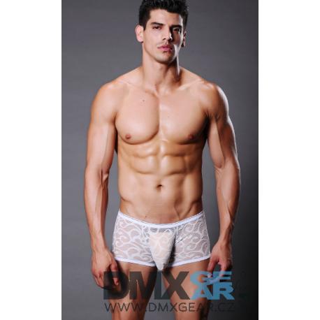 XUBA bílé krajkové boxerky Lace Velikost S