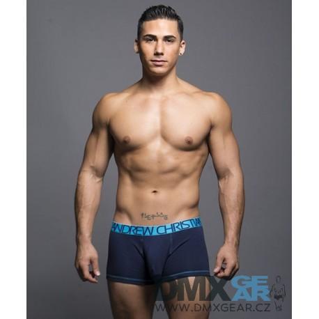ANDREW CHRISTIAN boxerky pánské tmavě modré Almost Naked Cotton Tagless Boxer 90048