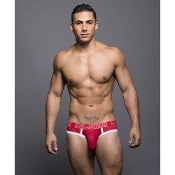 ANDREW CHRISTIAN slipy červené BLOW! Mesh Locker Brief 90055