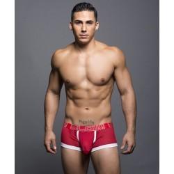 ANDREW CHRISTIAN boxerky červené BLOW! Mesh Locker Boxer 90056