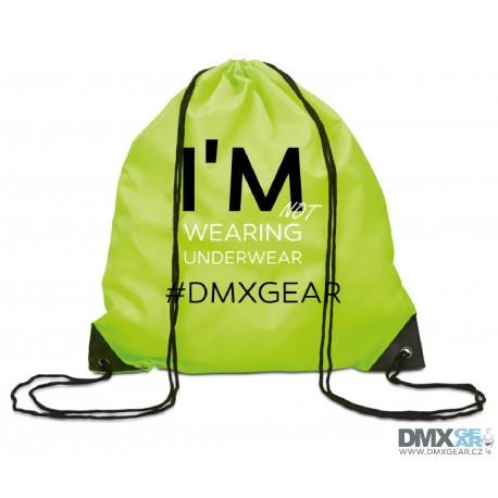 DMXGEAR batoh žluto-zelený na záda I'm not wearing underwear