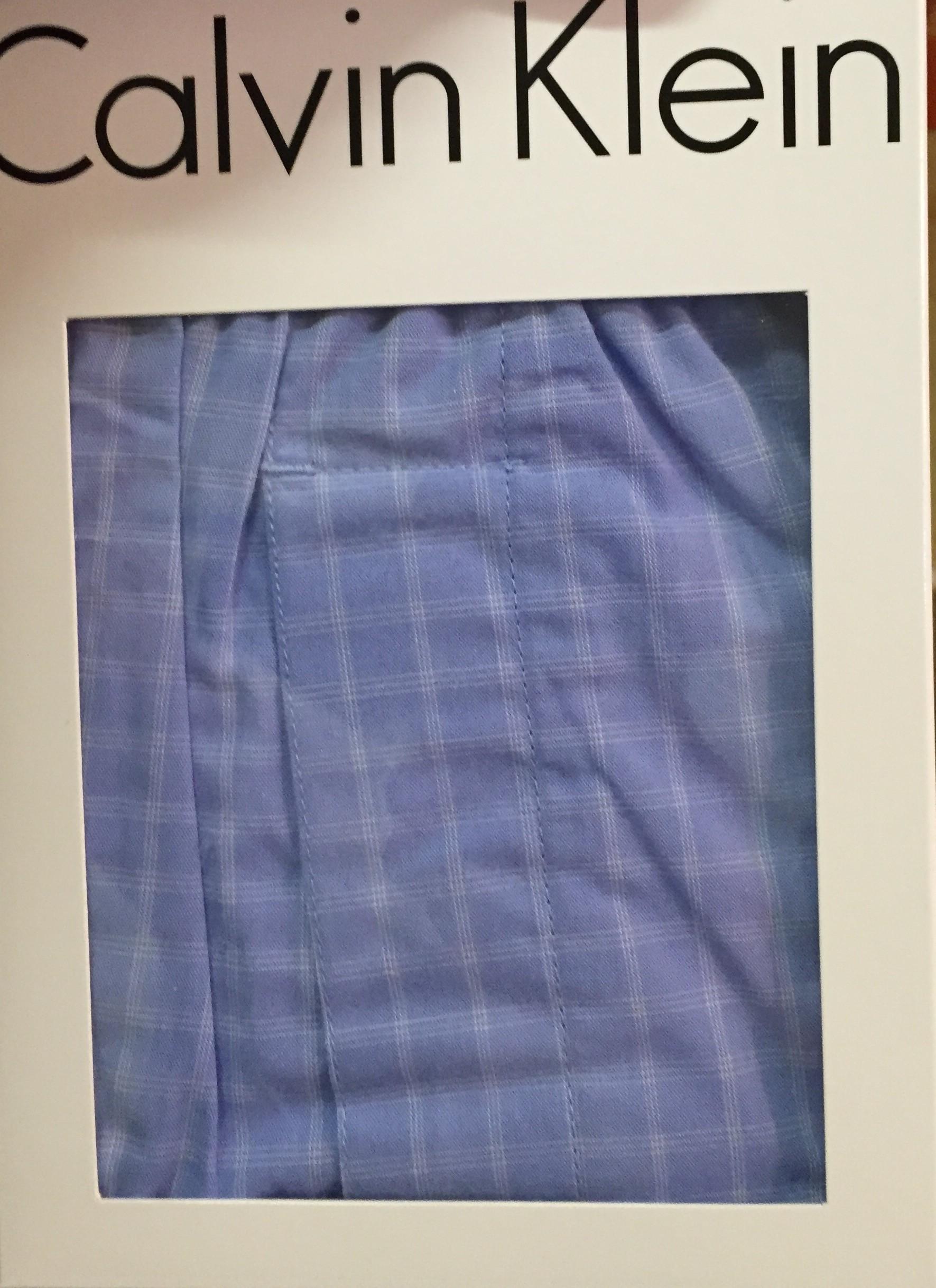 de46324ca5 CALVIN KLEIN pánské modré vzorované volné trenýrky trenky Trad Fit Boxer  NU1718A