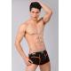 XUBA luxusní pánské černé boxerky Black-Orange-Red 1201-23