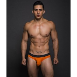 ANDREW CHRISTIAN slipy oranžové Almost Naked Bamboo Tagless Premium Brief Navy
