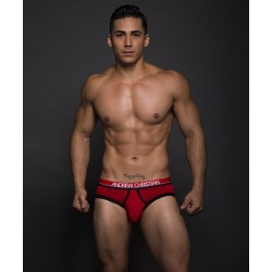 ANDREW CHRISTIAN slipy červené Almost Naked Retro Modal Tagless Brief 90066