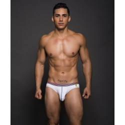 ANDREW CHRISTIAN slipy bílé Almost Naked Multi Boy Brief
