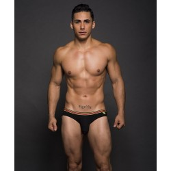 ANDREW CHRISTIAN slipy černé Almost Naked Multi Boy Brief