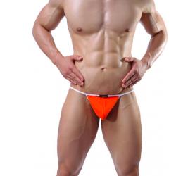 JJ SOX oranžová pánská tanga Naked Stripe