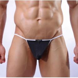 JJ SOX černá pánská tanga Naked Stripe
