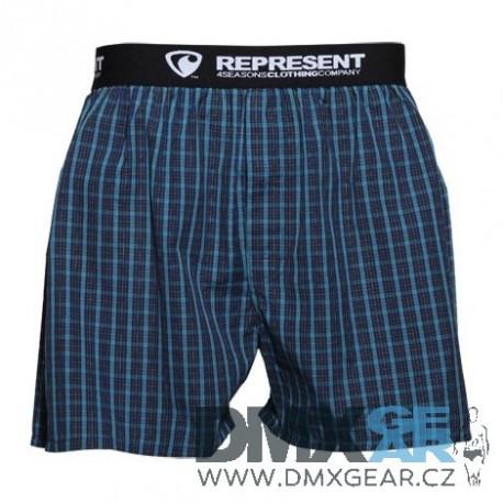 REPRESENT pánské bavlněné tmavě modré trenýrky Mikebox 16205 Velikost L